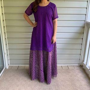 Purple Indian/Pakistani Lengha Choli